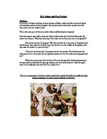 adam and eve essay 3 Sword series collection of christian theological essays - the fall of adam and eve page 1 of 3 wwwstudychristianityorg the fall of adam & eve.