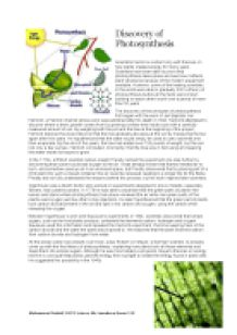 the discovery of photosynthesis gcse science marked by page 1 zoom in