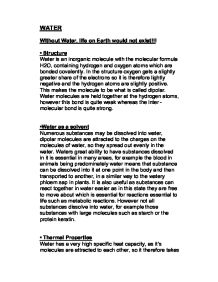 out water life on earth would not exist gcse science  page 1 zoom in