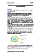 biology coursework osmosis method