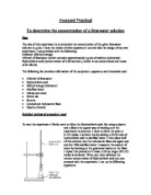 how to know concentration of a solution in experiment