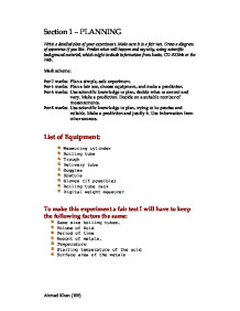 coursework investigation plan