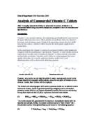 title determination the amount of ascorbic acid vitamin c gcse related gcse aqueous chemistry essays