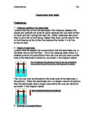 chemistry coursework sodium thiosulphate background knowledge