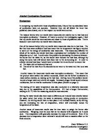 Gcse science coursework evaluation