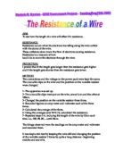 the effects of the length of a piece of wire on its resistance Class practical a simple investigation of the factors affecting the resistance of a wire resistance effects resistance of a wire depends on its length.