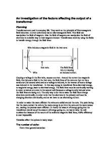 To Investigate How Increasing The Voltage Can Affect The Flow Of Current Essay Sample
