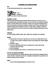 Essay/Term paper: Insulation