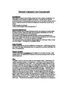 Newton weights essay