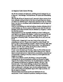 creative writing the bliss of acceptance gcse sociology  an inspector calls creative writing