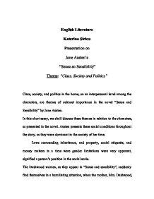 is sense and sensibility an unromantic novel english literature essay Jane austen published sense and sensibility  and a number of other novels in the romantic period of english literature  and her own good sense.