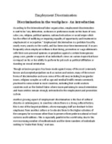 Essay on discrimination