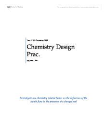chemistry design prac essay C essay 20 we are confident that this mind the gap study guide can help you to prepare well so that you pass the end-of-year exams.