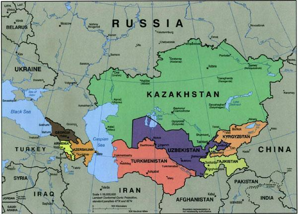 Turkmenistan Case Study International Baccalaureate Geography - Russia map and surrounding countries