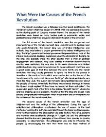 comparing the causes of the french and russian revolutions  what were the causes of the french revolution