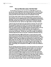 essay on why hitler came into power Why are how hitler came to power essay so many people anti and let your likes transcript of was the wall street crash the main reason why hitler came into power.