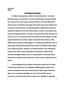 Essay Proposal Examples The Missouri Compromise The Fear Of Politicians Was  What Is A Thesis For An Essay also Sample Of English Essay The Effectiveness Of Political Compromise During The Period Of   Essay Reflection Paper Examples
