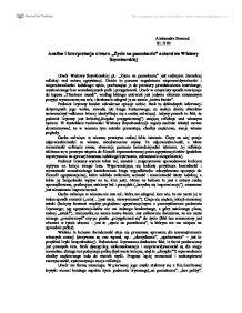 Ycie Na Poczekaniu Analiza I Interpretacja