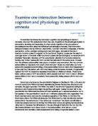 interaction between cognition and physiology essay Physiology and behaviour explain one study related to localization of function in the brain (for example examine one interaction between cognition and physiology in terms of behaviour (for example, agnosia, anosognosia, prosapagnosia, amnesia.