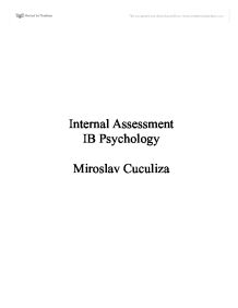 internal assessment loftus and palmer study