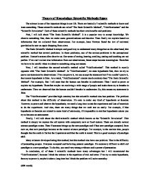 theory of knowledge scientific methods essay international  page 1 zoom in