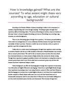 theory of knowledge logic essay