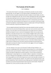 The custody of the pumpkin essay essay