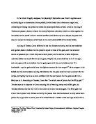 greek tragedy essay