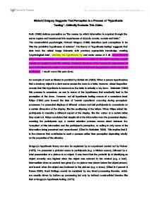 taste perception process essay