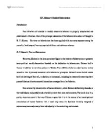 Behaviorism in the classroom essay