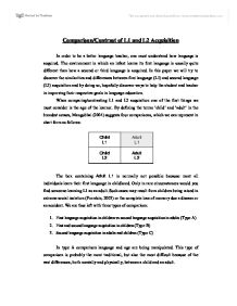 An Essay About Health Comparisoncontrast Of L And L Acquisition  University Biological  Sciences  Marked By Teacherscom The Newspaper Essay also Analytical Essay Thesis Comparisoncontrast Of L And L Acquisition  University  Friendship Essay In English