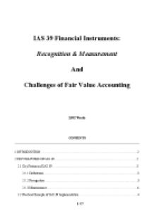 fair value accounting 5 essay 5 trade secrets such as secret formulas, processes or recipes #  separately from goodwill, provided its fair value can be measured reliably.