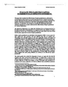 Effectiveness of capital punishment essay