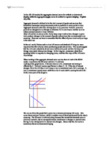 aggregate demand and supply models 3 essay The aggregate demand/aggregate supply (ad/as) model appears in most  in  essays in positive economics (pp 3-43) chicago: university of chicago press.