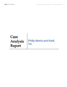 philip morris kraft case essay Philip morris case study free essays, term papers and book reports thousands of papers to select from all free.