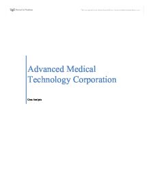 advanced medical technology corporation case summary Go to advanced search printer-friendly version  search results  the case centre is dedicated to advancing the case method worldwide.