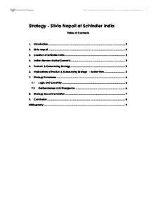 silvio napoli schindler india essay Assignments download course materials pre-class surveys for most classes, a brief pre-class silvio napoli at schindler india bartlett, christopher a, michael y yoshino, and perry fagan silvio napoli at schindler india (a).