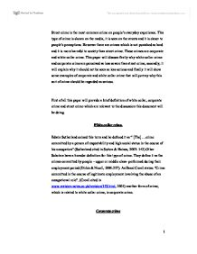 white collar and corporate crime essay