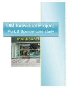 Marks and Spencer aims and objectives