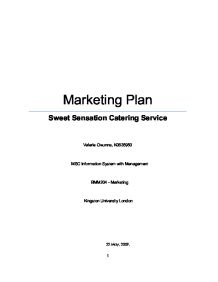 Marketing Plan Sweet Sensation Catering Service - University ...