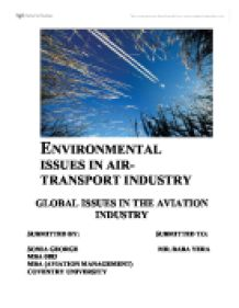 Environmental issues in aviation essays