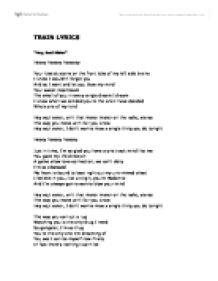 Train hey soul