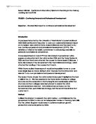 Reflective essay on personal and professional development