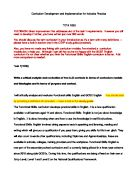 Special Education Admission Essay