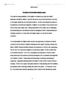 Essay On English Subject Essay On English Subject Wwwgxart Essay  Essay On English Subject Www Gxart Orgthe Role Of The English Subject  Leader University Education And