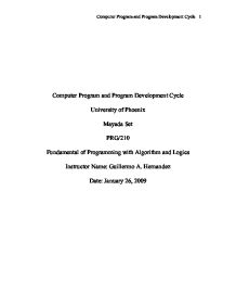computer programming and program development essay Another general responsibility of a computer programmer is to consult with outside parties in relation to the construction of computer programming methods and the programs themselves lastly, computer programmers must follow the progress of programs to ensure that they are operating correctly and fix any program errors that might occur along.