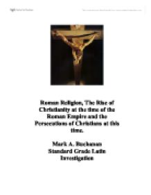 the rise of christianity in the roman empire essay How did the spread of christianity affect the roman empire christianity based on the life and teachings of jesus christ from nazareth is a monotheistic religion that gave hope to rome in the time of the roman empire.