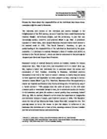 the responsibilities of an individual essay Personal responsibility essay laurie smith gen 200 january 4, 2012 adrianna szymkowski personal responsibility essay i believe personal responsibility is an important part of success whether the success i am trying to achieve is educational, professional or personal.