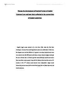 contract law implied terms essay Contract law study notes: offer, acceptance  estoppel, formalities, capacity, privity, express and implied terms under contract law in australia.