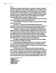 company law essay co company law essay